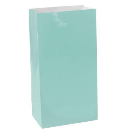 Sacchetti di carta color Azzurro acqua (12 pz)