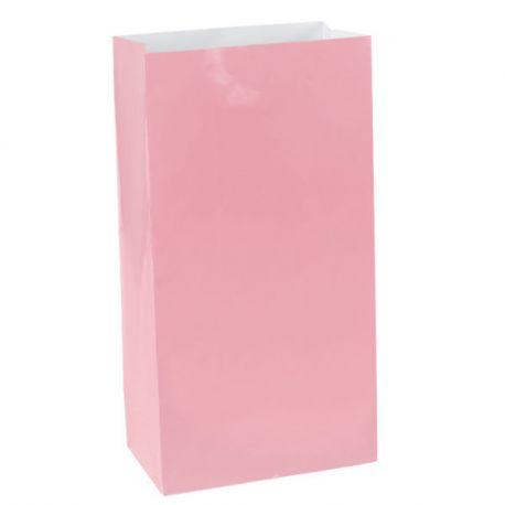 Sacchetti di carta Rosa (12 pz) H 25 cm