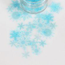Fiocchi di neve color Azzurro
