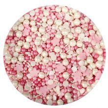 Cristalli di zucchero Mix Rosa e fiorellini 100g