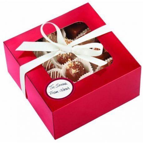Idee Per Confezionare Biscotti Di Natale.Set 3 Scatole Con Finestra Per Confezionare Biscotti E Dolci