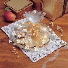 Sacchetti cellophane con fiocchi di neve (6 pz)