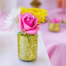 Vaso glitterato oro