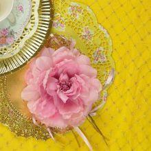 Peonia rosa in tessuto 12 cm