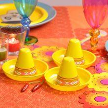 Mini Sombreri di plastica colori asortiti (3pz)