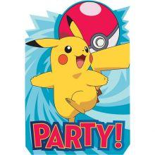 Biglietti di invito Festa Pokemon (8 pz)