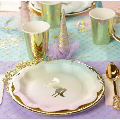 Festa Unicorno Piatti Elegance