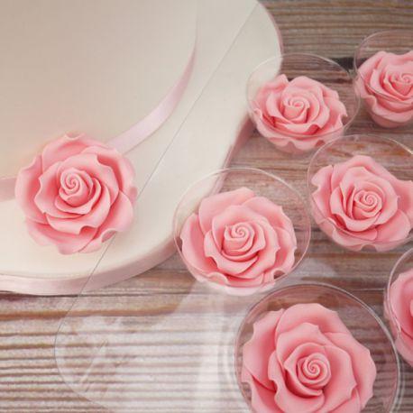 Rose in zucchero 6 cm ( 2 pz)