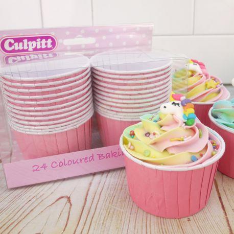 24 Cestini Muffins Rosa