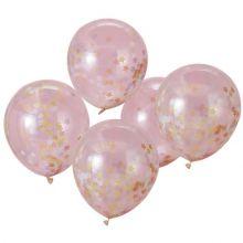Palloncini con stelle di coriandoli (5 pz)