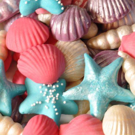 Conchiglie zucchero colorate