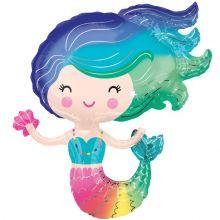 Palloncino Foil a forma di Sirena