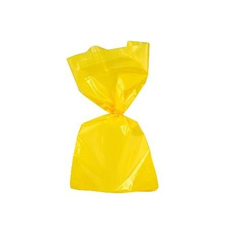 Sacchetti Party in Cellophane gialli (25 pz)