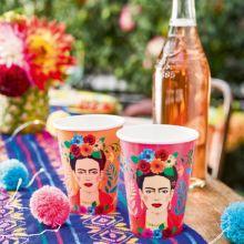 Bicchieri di carta Frida Kahlo (12 pz)