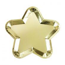 Piatti di carta Stella Oro (12 pz)