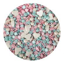 Decorazioni in zucchero Mix Rosa azzurro 100 g