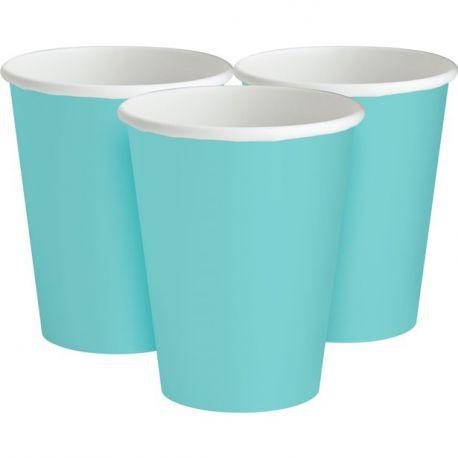 Bicchieri di carta Azzurro Tiffany (8 pz)