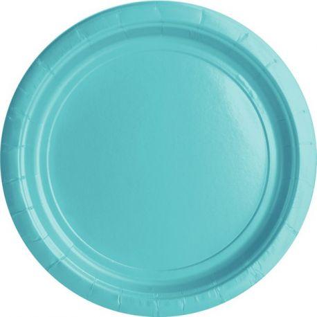 Piattini Azzurro Tiffany 17 cm (20 pz)