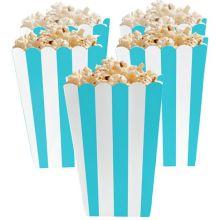 5 Porta popcorn strisce azzurre
