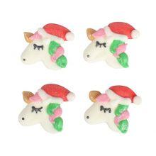 Unicorno di Natale in zucchero (10 pz)