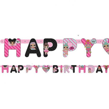 Festone LOL Surprise Happy Birthday