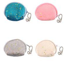 Porta monete con brillantini 6 cm