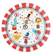 Festa Circo Piatti di Carta 23 cm (8 pz)