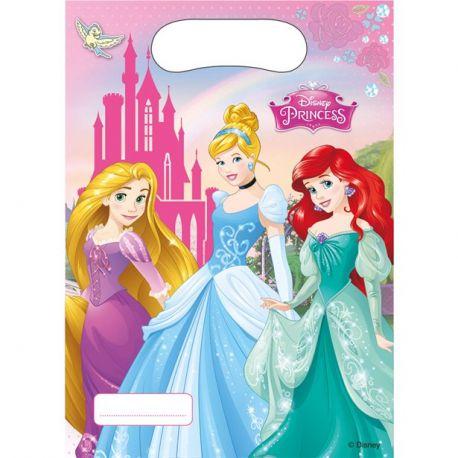 Party Principesse Disney 6 Sacchetti Plastic