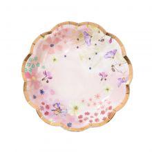 Piatti fiori e oro rosa- Festa ragazze Blossom Girl