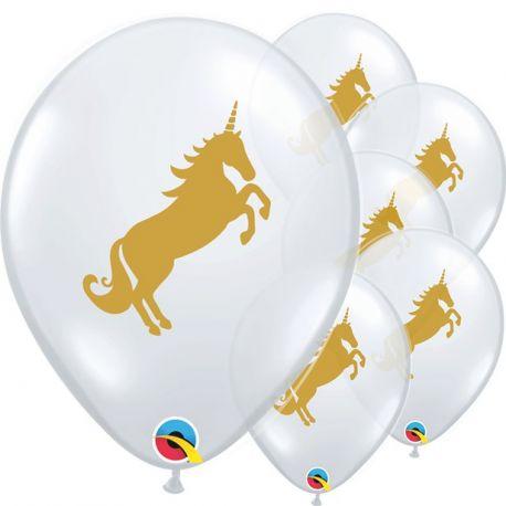 Palloncini lattice Unicorno Oro