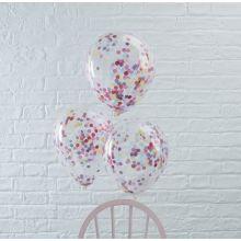 Palloncini con coriandoli colorati