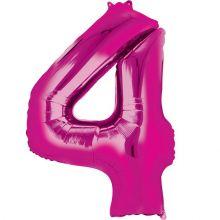 Palloncino a forma di Numero 3 Rosa
