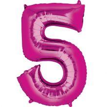 Palloncino a forma di Numero 4 Rosa