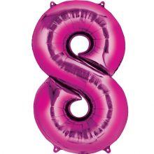 Palloncino a forma di Numero 7 Rosa