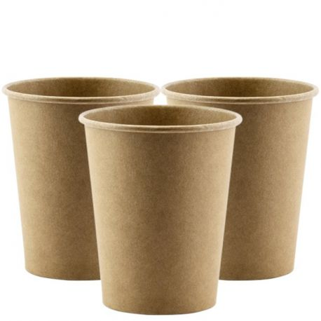 Bicchieri di carta in cartoncino  grezzo