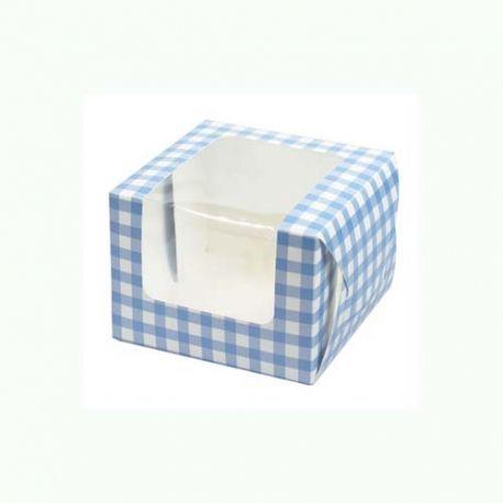 Box Cupcake/Muffin Azzurro