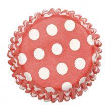 Pirottini per Cupcake Rossi Pois Bianchi