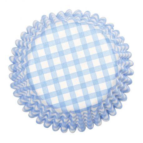 Pirottini per Cupcake Azzurri Pois Bianchi