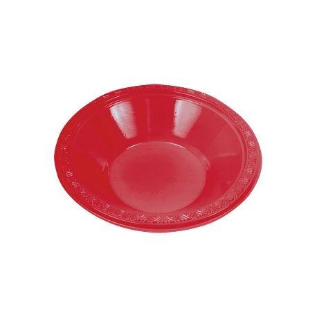 Piatti di plastica Ciotola Rosso 20 pz