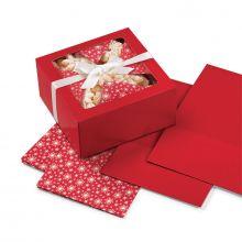 Set 3 scatole con fogli incartadolci Natale