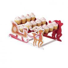 Stand Porta Cupcakes Slitta e Renne