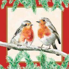 Tovaglioli di carta Natale Pettirossi 20 pz