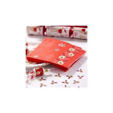 Party Natale Rudolf Tovaglioli di Carta