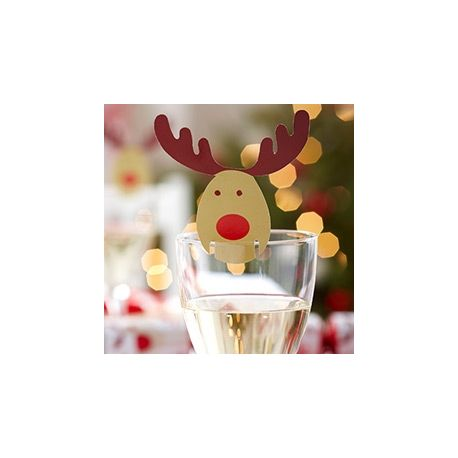 Party Natale Rudolf  Card Segnaposto10 pz