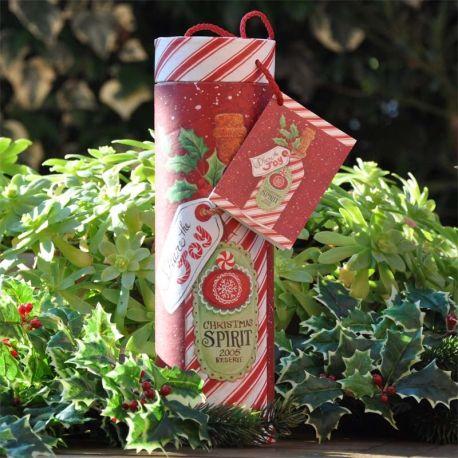 Confezione Regalo Bottiglia Christmas