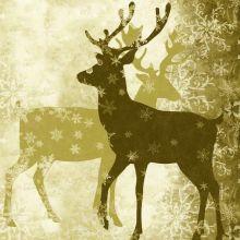 Natale Tovaglioli Renne Oro 20 pz