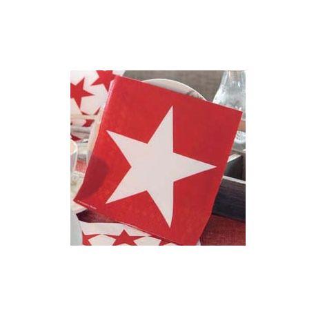Tovaglioli Star Red