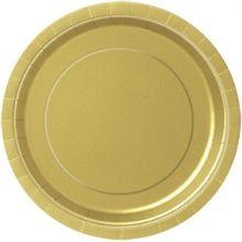 Piatti di Carta Oro  scuro 23cm 8 pz