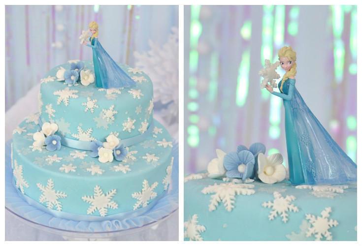 torta frozen elsa neve dincanto