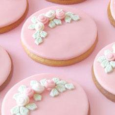 Biscotti decorati con pasta di zucchero